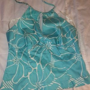 INC Halter Top Turquoise